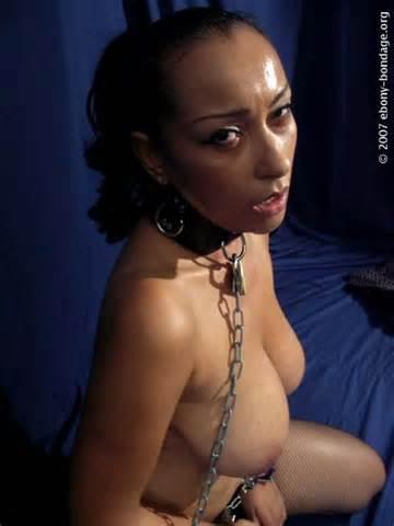 Ebony Bondage Org rien mais Babes noir en Bondage